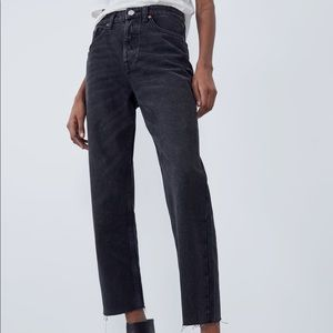 Zara Hi-Rise Straight Leg Jeans Sz 2
